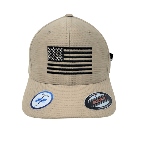 Dry-Fit Flag Hat in Khaki Hats