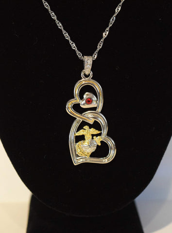 Entwined Hearts Necklace Jewelry