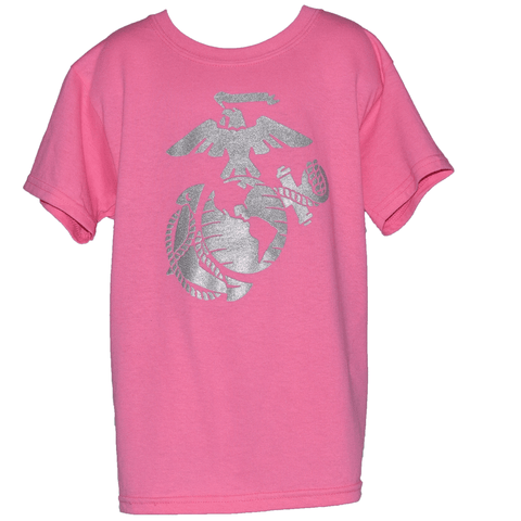 Girls Youth Pink EGA Glitter Shirt Youth Apparel