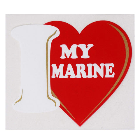 I Love My Marine Decal Decal