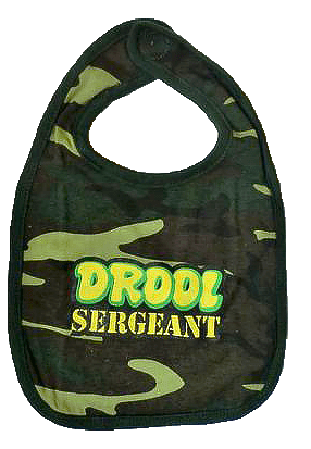 "Infant Bib ""Drool Sergeant"" - Camo Youth Apparel"