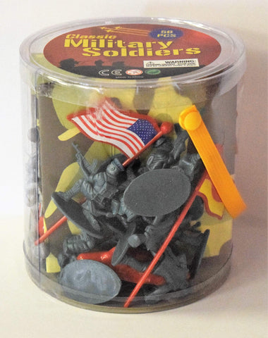 International Military Soldiers Bucket - 56 Pieces Toys