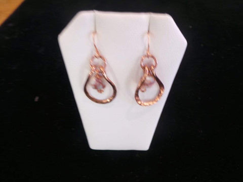 Jasper Hoop Earrings - Copper Jewelry