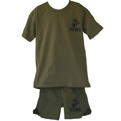 Kid's Marine Corps PT Set Youth Apparel