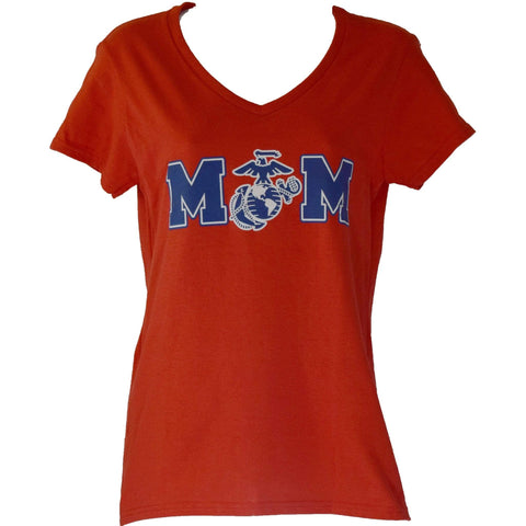 Ladies Mom with EGA V-Neck T-Shirt T-Shirt
