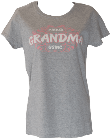 Ladies Proud Grandma T-Shirt - Grey T-Shirt