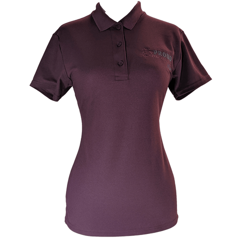 Ladies Proud Marine Mom Polo Polo