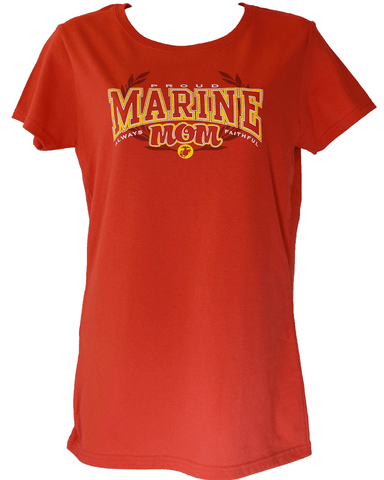 Ladies Proud USMC Mom T-Shirt T-Shirt