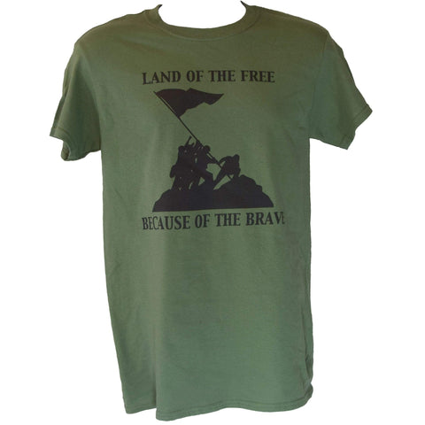 Land Of The Free Graphic T-Shirt T-Shirt