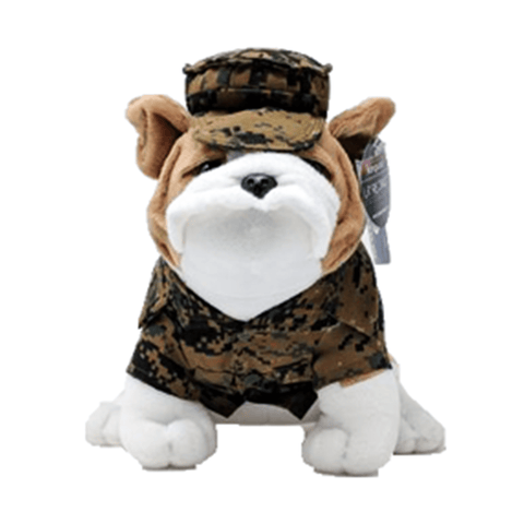 Large Stuffed Bulldog In Uniform Toys