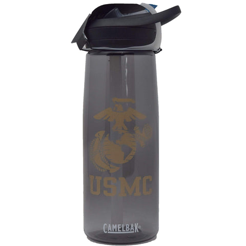 Marine Corps Camelbak Water Bottle - Black, Pink & Red Drinkware