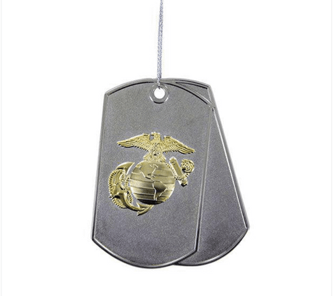 Marine Corps Dog Tag Ornament Holiday