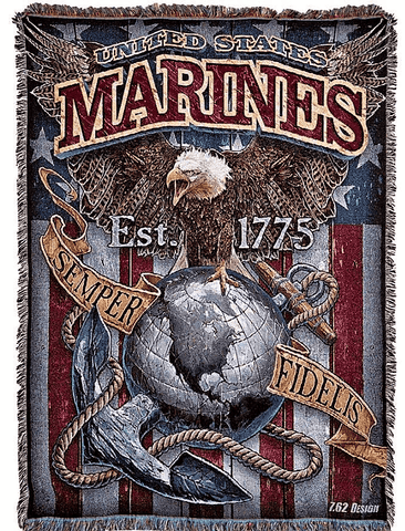 Marine Corps EGA Throw Blanket Blanket