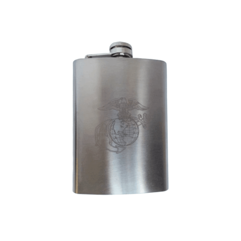 Marine Corps Engraved Flask Drinkware