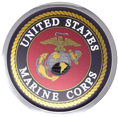 Marine Corps Seal Stainless steel Mirror Finish Plaque