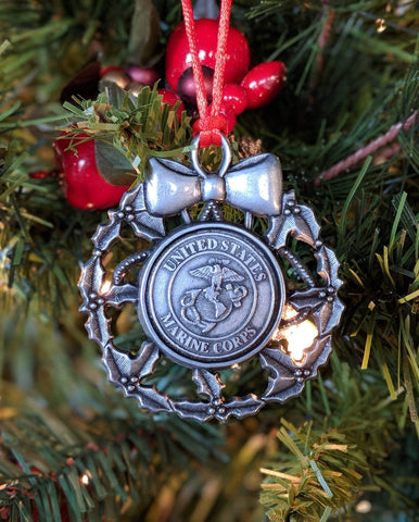 Marine Corps Wreath Ornament Holiday