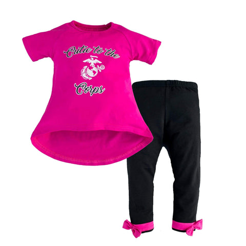 Marine Cutie to the Corps Toddle 2 Piece Set Youth Apparel