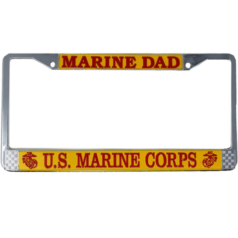Marine Dad License Plate Frame License Plate