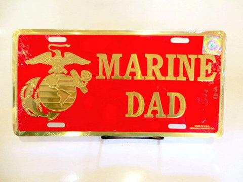 Marine Dad License Plate License Plate