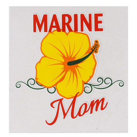 Marine Mom Flower Decal Decal