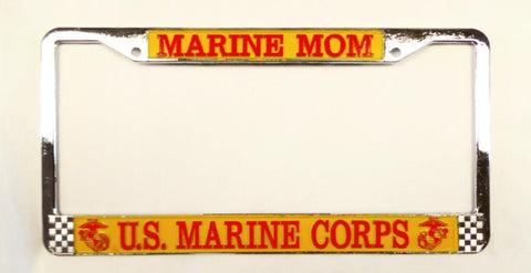 Marine Mom License Plate Frame License Plate