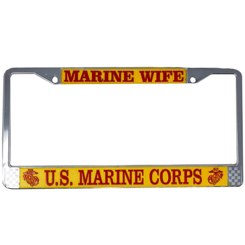 Marine Wife - USMC License Plate Frame License Plate