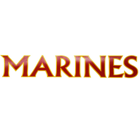 Marines in Gold Vinyl Decal Decal