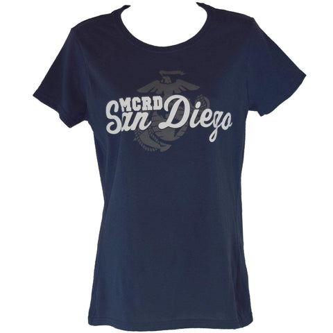 MCRD San Diego Ladies Tee-Navy shirt
