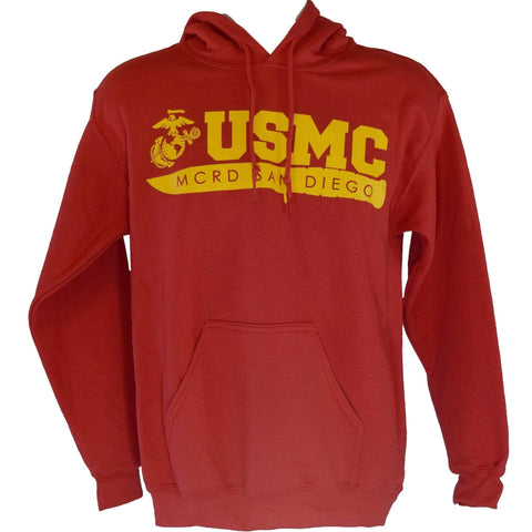 MCRD San Diego Sweatshirt - Red sweatshirt
