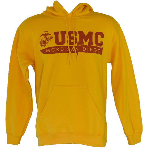 MCRD San Diego Sweatshirt - Yellow sweatshirt