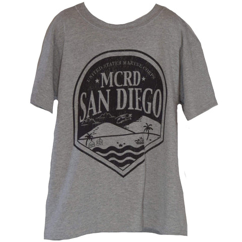 MCRD San Diego Youth  Tee Green / Grey tee