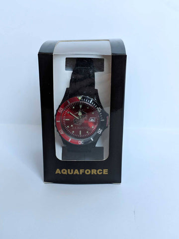 Men's Black & Red Bezel Watch Watches