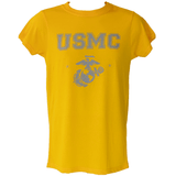 Men's USMC Yellow Workout T-Shirt T-Shirt