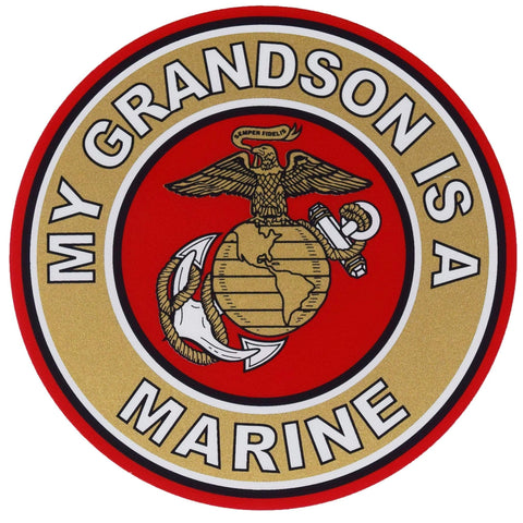 My Grandson Is A Marine Decal Decal