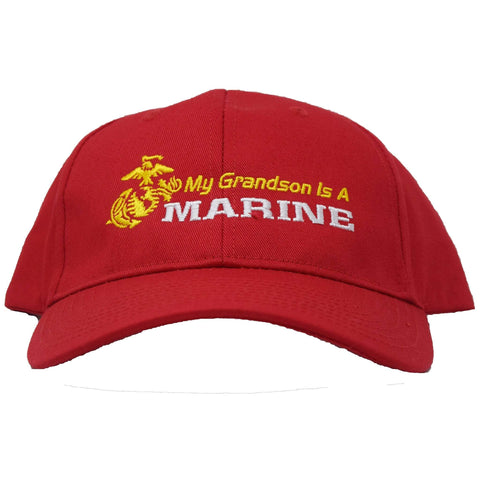 My Grandson Is A Marine Hat Hats
