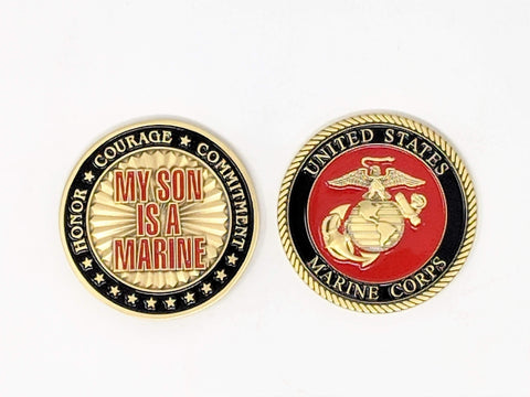 My Son Is A Marine Challenge Coin Challenge Coins