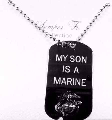My Son Is A Marine Dog Tag Dog Tag