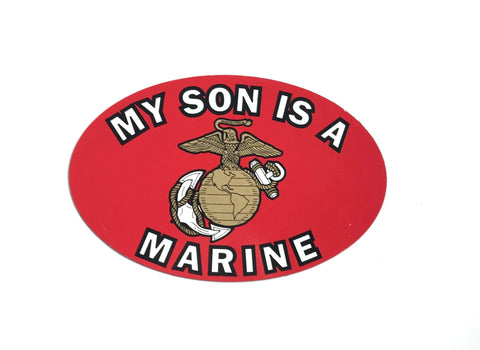 My Son Is A Marine Oval Magnet Magnet
