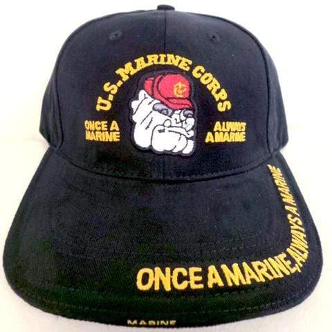 Once A Marine, Always A Marine Bulldog Hat Hats