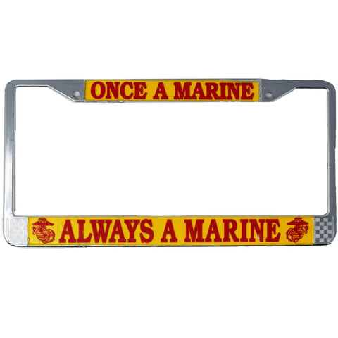Once A Marine Always A Marine License Plate Frame License Plate