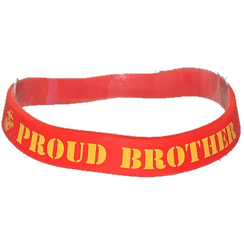 Proud Brother Silicone Wristband Wristband