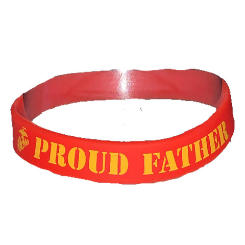 Proud Father Silicone Wristband Wristband