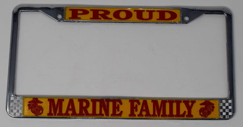 Proud Marine Family License Plate License Plate