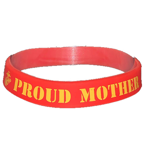 Proud Mother Silicone Wristband Wristband