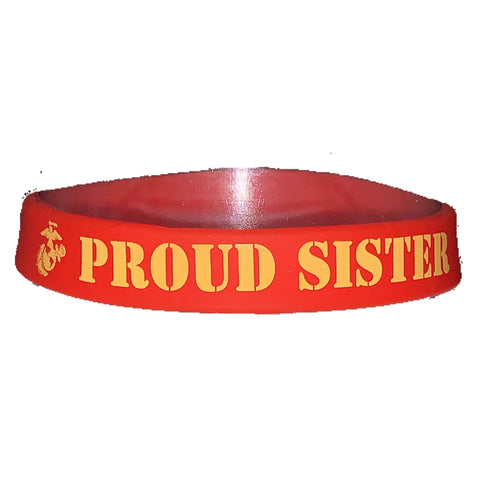 Proud Sister Silicone Wristband Wristband