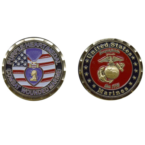 Purple Heart Coin Challenge Coins