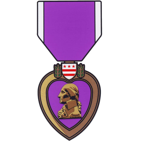 Purple Heart Decal Decal