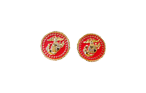 Red EGA Cufflinks Jewelry