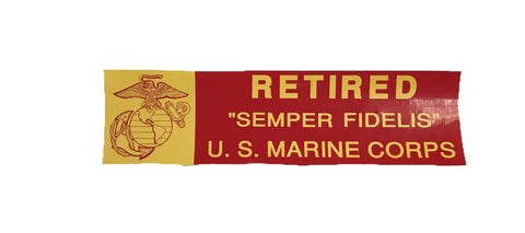 Retired Marine Corps Bumper Sticker Stickers