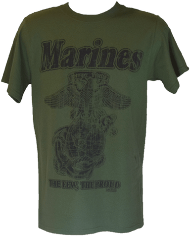 Retro Marines Graphic T-Shirt - Green T-Shirt